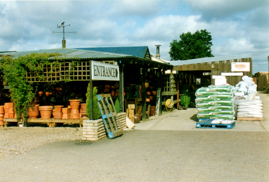 Entrance to the garden Centre in the 1980's