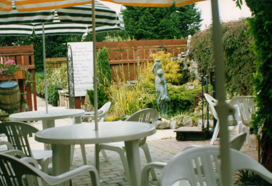 Outside seating Area in the 1980's