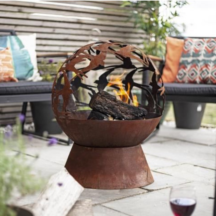 Swallows Mini Globe Firepit