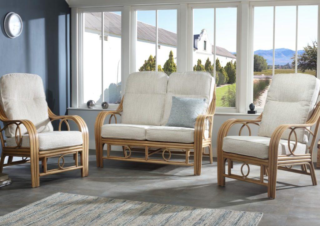 Madrid Cane Furniture - Light Oak Range