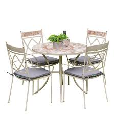 Morocco 4 Seat Set - 90cm Table (Ceramic)
