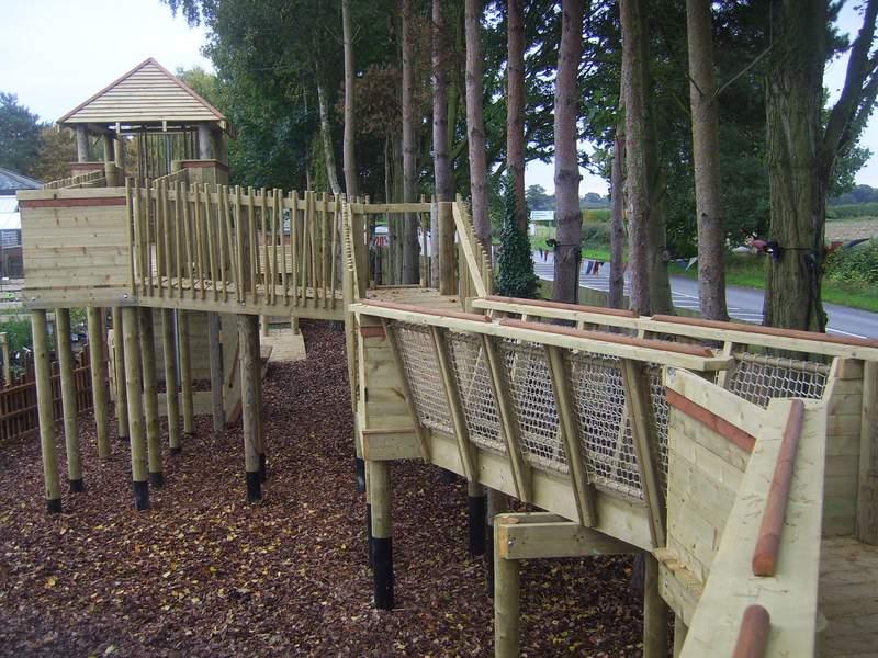 Treetops middle raised walkway