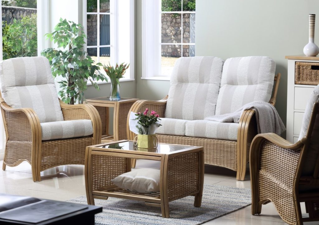 New - Turin Cane Furniture - Light Oak Range