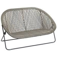 Tobs Faux Rattan 2 Seater Lounger