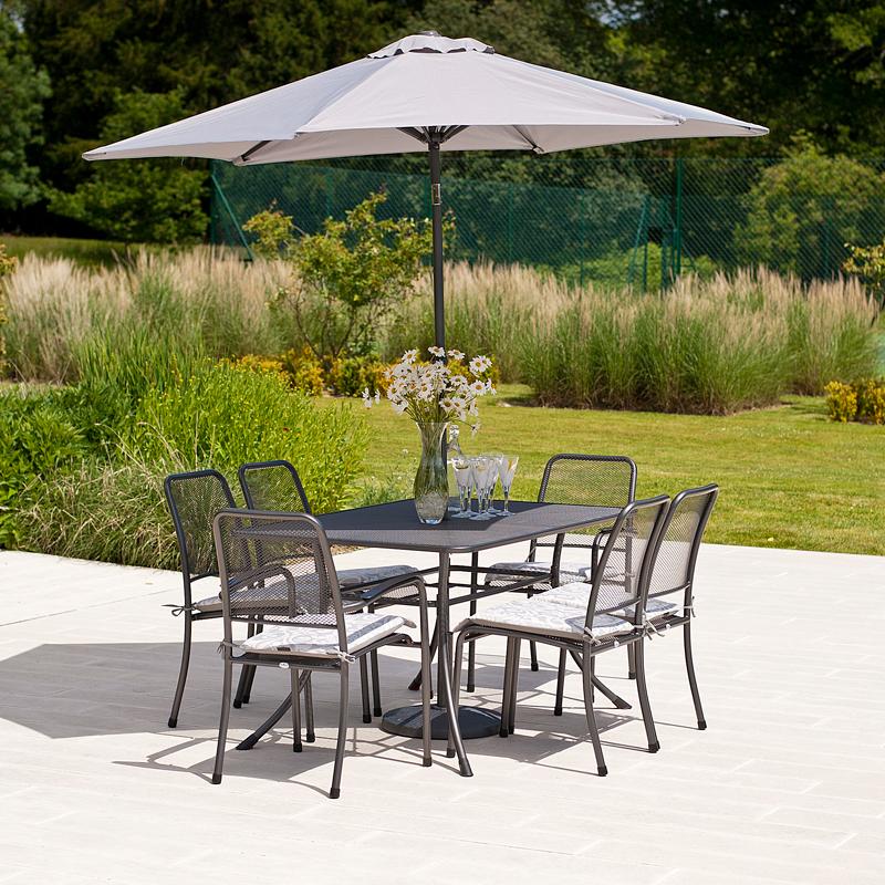 Alexander Rose Portofino Collection 6 Seat Dining Set