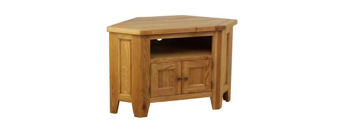 Oak Corner TV Unit 90 Degree NB037A
