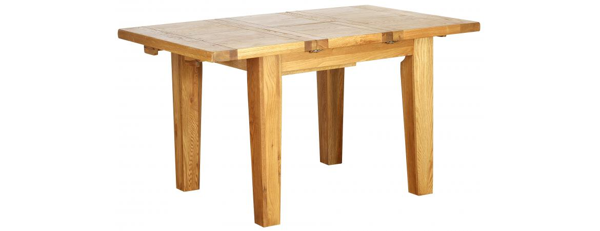 Oak Extending Dining Table 1 meter - 1.4 meters NB058