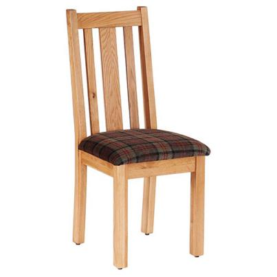 Vertical Slats Dining Chair with Fabric Seat NB043F9