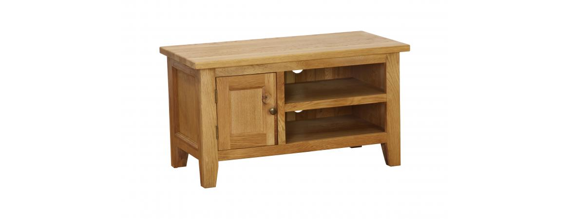 Oak 1 Door / 1 1 Shelf TV Unit NB014
