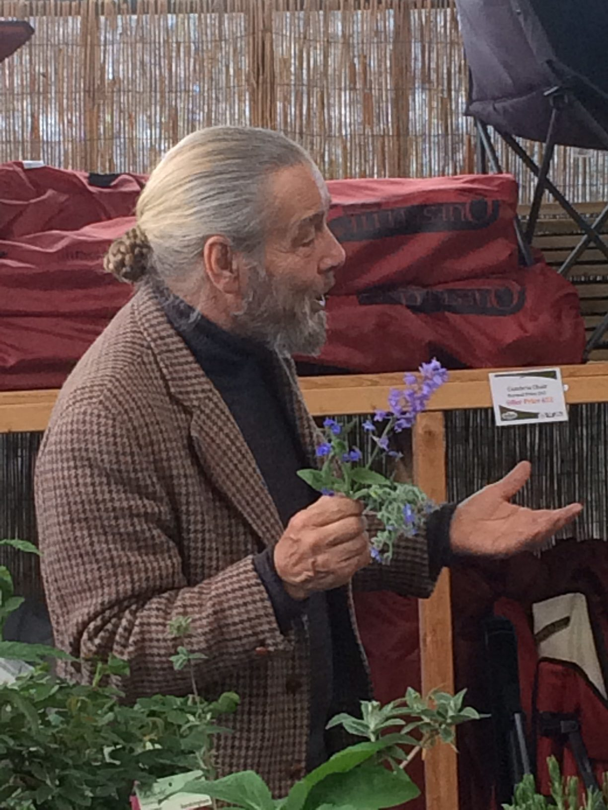 "Bob Flowerdew in full flow talking about ""The Perfumed Garden"" - Friday 26th April 2019"